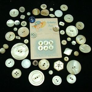 Other - Button lot carved shell mother of pearl